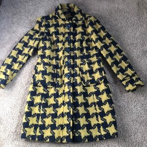Boden Wool Houndstooth Coat, size US 10